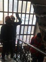 اتصالی برق عامل آتش سوزی مجتمع کنزالمال خرمشهر